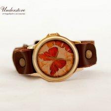Zegarek Pomarańczowy Motyl