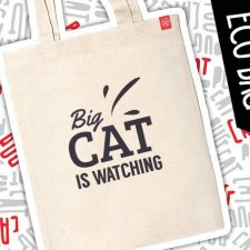 "Kot eko eco torba ""Big Cat is watching"""