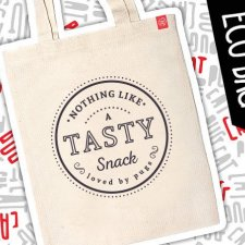 "Mops eko eco torba ""Nothing like a snack"""