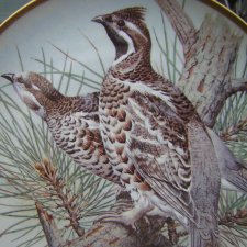 "franklin porcelain 1979  limoges ""gamebirds of the world"" by Basil Ede kolekcjonerski talerz porcelanowy"