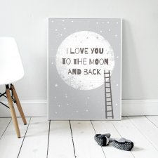 "Plakat 50x70 cm ""I love you to the moon and back 