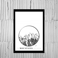 "Plakat a4 ""The mountains are calling"""