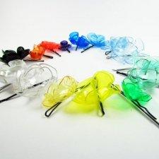 Kolorowe spinki wsuwki do włosów Eko moda Recykling - 10 sztuk