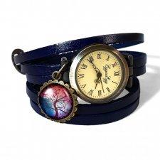 Kolorowe drzewo - 0601 zegarek / bransoletka na skórzanym pasku - Egginegg