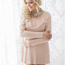 Tunika/sukienka z koronkowym żabotem