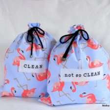 Pink Flamingos - underwear travel bags
