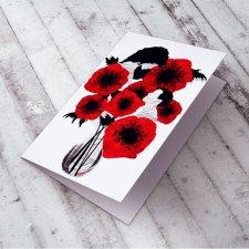 Ślubna Karteczka z makami...