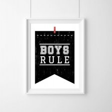 PLAKAT - BOYS RULE |BLACK |A3