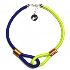 Multicolor /navy blue & fluo green/