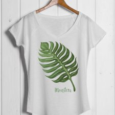 Monstera I t-shirt slub