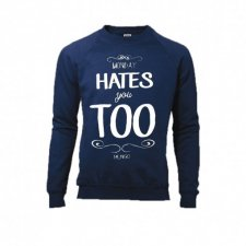 Bluza raglan MONDAY HATES YOU TOO granatowa XL
