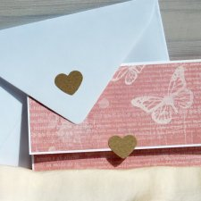 Kartka ślubna-kopertówka