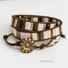 Bransoleta Boho Brown Gold
