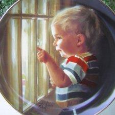 danbury mint Daddy's Home kolekcjonerski talerz porcelanowy  childhood days