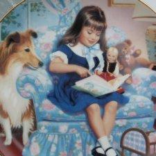 danbury Mint 1991  children of the week - sunday 's  child by elaine gignilliat kolekcjonerski talerz porcelanowy