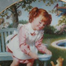 danbury Mint 1991  children of the week - friday 's  child by elaine gignilliat kolekcjonerski talerz porcelanowy