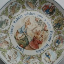 Wedgwood 1992  Peter Rabbit wishes  you a Very happy BIRTHDAY