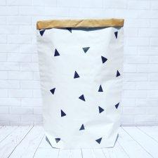 Worek papierowy  torba papierowa trójkąty  M- 60 cm