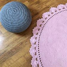 Okrągły dywan  bawełniany z GRUBEGO SZNURKA HOMEDECO 160 cm
