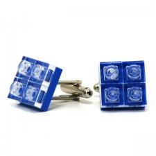 Spinki do mankietów diamenty - niebieskie