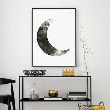"""Ilustracja A3 """"Moon"""""""