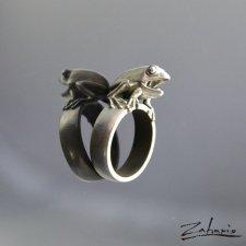 Pierścień Żaba Srebro