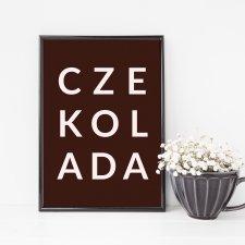 """Plakat """"Czekolada"""" format A4"""