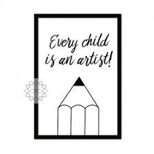 """Plakat """"An artist"""" A4"""