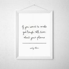Plakat cytat Woody Allen - A3
