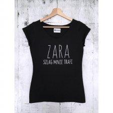 """T-shirt damski """"ZARA mnie szlag trafi"""", Handmade Mococo, XL"""