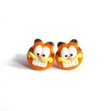 Zabawne Kolczyki Pomarańczowe Koty Garfield