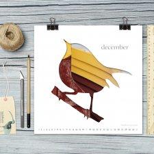 kalendarz 2017 ptaki 21x21cm