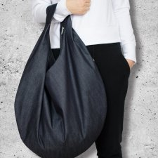 torba HOBO - grafitowy jeans