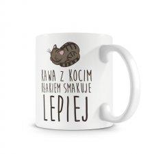 KUBEK - kawa z kotem
