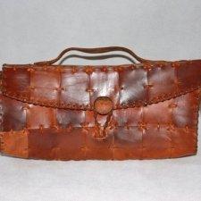 Skórzana torebka lata 70-te