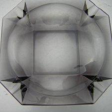 Imponująca  gabinetowa krysztalowa ogromna Popielnica 20,5 x 20,5