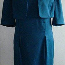 ANABO: elegancki komplet sukienka i bolerko M/L