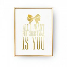 ALL I WANT FOR CHRISTMAS IS YOU, PLAKAT ŚWIĄTECZNY