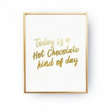 TODAY IS A CHOCOLATE, PLAKAT ŚWIĄTECZNY