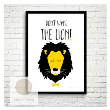 "Plakat ""Don't wake the lion"" A4"