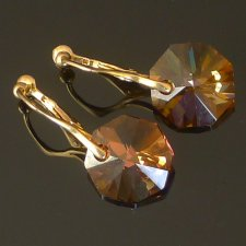 Swarovski Octagon Crystal Copper 00612