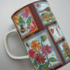 the garden  Dunoon  design by Louise Rawlings Fine Bone China Made in England