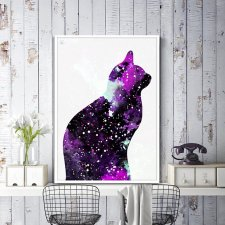 "Plakat 40x30 ""Galaxy Cat"""