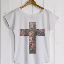 Cross white/grey