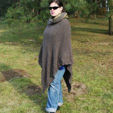 Poncho XL z kominem : Madame Brown&Green