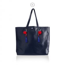 Torba XL NAVY BLUE MEXICO z ekoskóry, shopper
