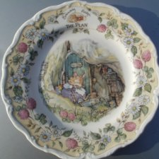 Royal doulton 1993  the  brambly HEDGE Gift collection  by Jill Barklem - the plan kolekcjonerski talerz porcelanowy