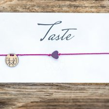 WHW Taste Purple Heart On Fuchsia String