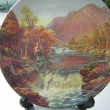"wedgwood  ""GONE FISHING"" - ""The Salmon Leap    "" by Graham Twyford"