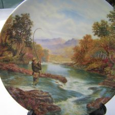"wedgwood  ""GONE FISHING"" - ""Playing  the Catch "" by Graham Twyford"